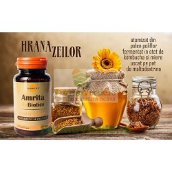 Amrita 3xBiotics Hrana Zeilor Prebiotice si Probiotice 60 capsule ProNatura Medica