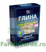 Argila cosmetica neagra de la Marea Moarta cu efect regenerant 100 gr FM8 Cosmetica Verde
