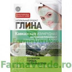 Argila cosmetica verde din Caucaz cu efect regenerant 75 gr FM16 Cosmetica Verde