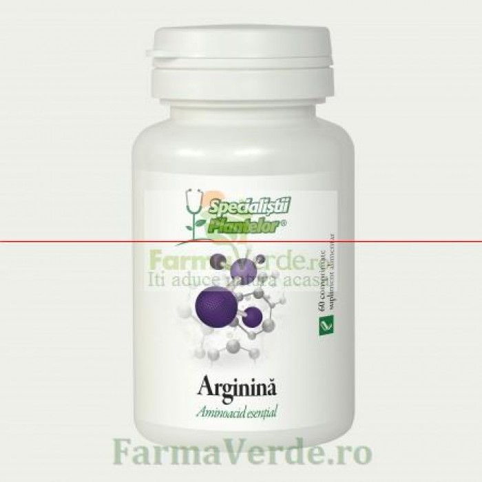 Arginina Ficat si Inima 60 comprimate Specialistii Plantelor DaciaPlant