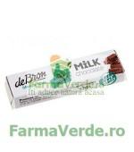 Baton de ciocolata cu lapte, fara zahar, cu indulcitori 42 gr DeBron