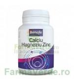 Benefe Calciu Magneziu si Zinc 30 comprimate Alevia