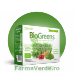 BioGreens SuperFood Vegan cu lastari,alge si germeni 100 gr Zenyth Pharmaceuticals