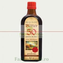 Bitter 50 de plante cu Ganoderma 200 ml Dacia Plant