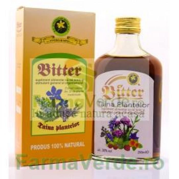 Bitter Taina Plantelor cu 30 de plante medicinale 200 ml Hypericum Impex Plant