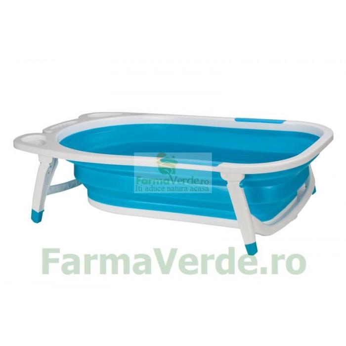 Cadita pliabila pentru copii U8833-B albastra U-Grow