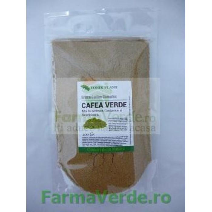 CAFEA VERDE MIX 200 GR (cafea verde, ghimbir, cardamon, scortisoara) TonikPlant Pharm