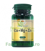CA + MG + ZN Calciu+Magneziu+Zinc 30 tablete CosmoPharm