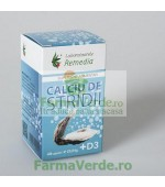 Calciu Stridii + Vitamina D3 40 capsule Remedia
