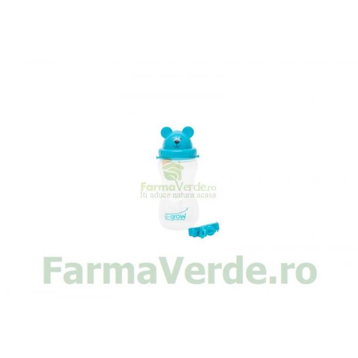Cana cu Pai si Curea pentru Copii Ursulet 500 ml A-1023 U-Grow