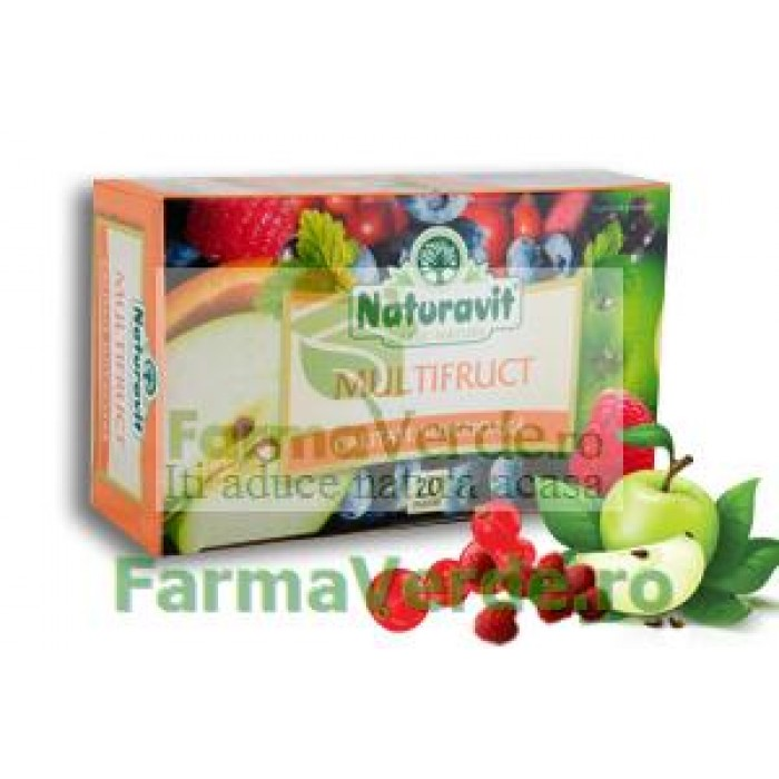 Ceai Multifruct 20 doze Naturavit