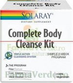 COMPLETE BODY CLEANSE KIT Tripla Detoxifiere 3 produse Solaray Secom