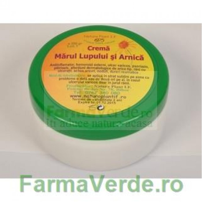 Crema Marul Lupului, Rostopasca si Galbenele 100 ml Natura Plant IF