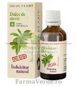 Dulce de stevie indulcitor natural tinctura fara alcool 50 ml DaciaPlant