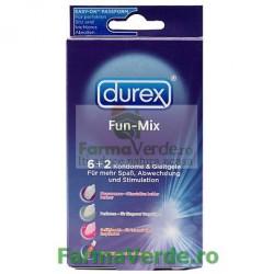 Durex Fun-Mix 6 Prezervative+2 Geluri Lubrifiante
