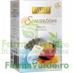 Evolet Ceai English Breakfast 40g (10 plicuri x 4g) Vedda