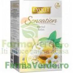Evolet Ceai Herbal Relax 40g (10 plicuri x 4g) Vedda