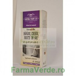 Extract din Fructe de Soc, Crusin si Papadie 500 ml Natura Plant IF