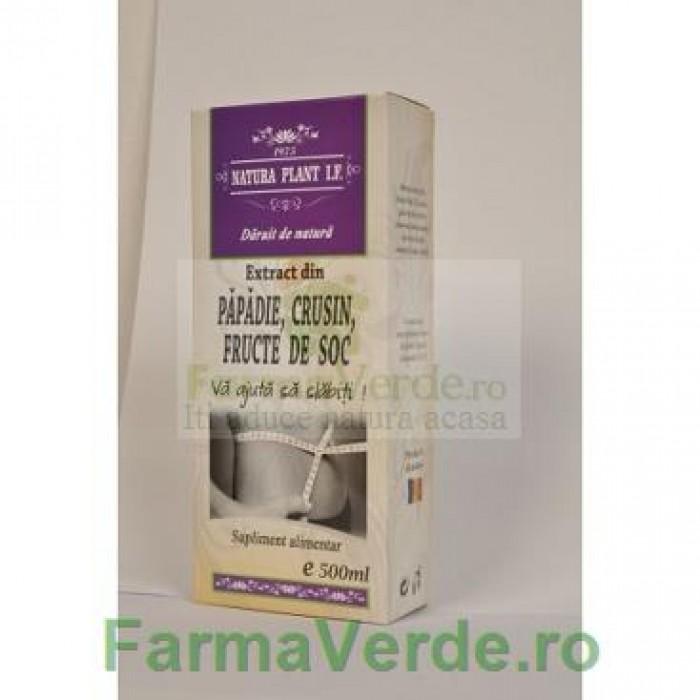 Extract din Fructe de Soc, Crusin si Papadie 500 ml Natura Plant IF