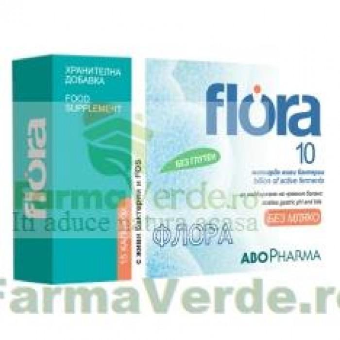 Flora10 Adulti Probiotice si Prebiotice 15 capsule Abo Pharma