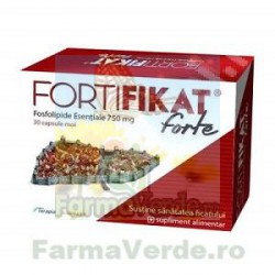 Fortifikat Forte fosfolipide esentiale 750mg 30 capsule Terapia