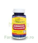 GINKGO CURCUMIN 95 Regenerare Cerebrala 60 capsule Herbagetica