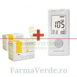 Glucometru Bionime GM100 PLUS 3 SETURI X 50 TESTE GLICEMIE