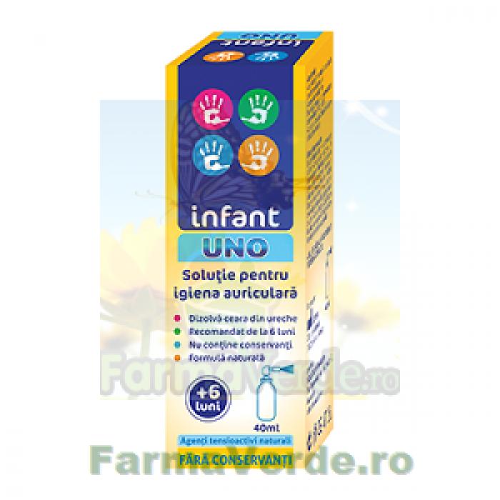 Infant UNO Solutie pentru igiena auriculara urechi fara ceara! 40 ml Solacium Pharma