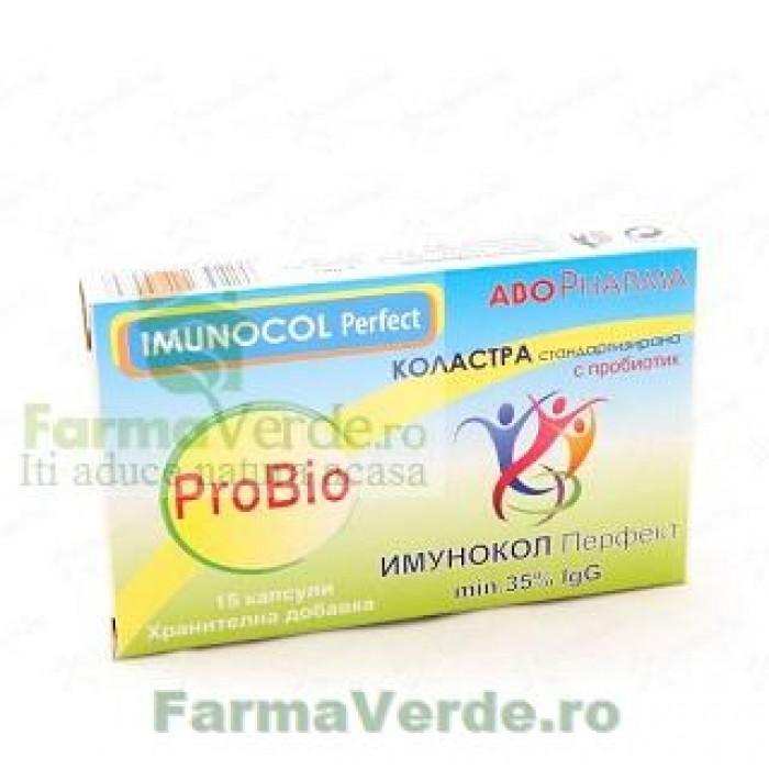 ABO IMUNOCOL ProBio Colostru cu Probiotice 15 capsule Abo Pharma