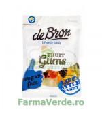 Jeleuri gumate cu aroma de fructe, Jelly Bears , fara zahar si fara gluten 90 gr DeBron