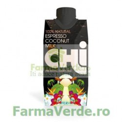 LAPTE DE COCOS cu EXPRESSO CHI 330 ml Unicorn Naturals