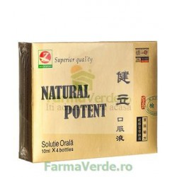 Natural Potent  Impotenta Sexuala 4 fiole 10 ml Amedsson