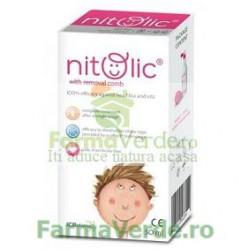 Nitolic Tratament paduchi si lindini cu pieptan 50 ml Top Pharma