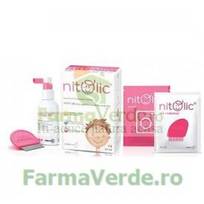 Set Tratament paduchi si lindini Nitolic Top Pharma