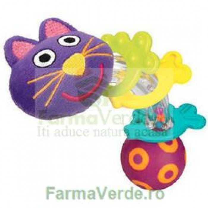 Pisicuta vesela Kitty Jucarie Bebelusi Senssitive Concept