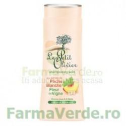 Sampon pentru par normal cu extracte de piersica si flori de vita de vie FPO44 Le Petit Olivier