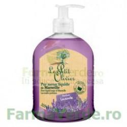 Sapun lichid de Marsilia pur cu parfum de lavanda 300 ml FPO19 Le Petit Olivier Cosmetica Verde