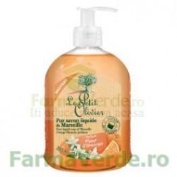 Sapun lichid de Marsilia pur cu parfum de flori de portocal 300 ml FPO23 Le Petit Olivier Cosmetica Verde