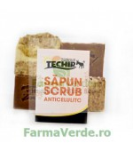 Sapun Scrub Anticelulitic Techir cu Namol Sapropelic 120 gr Techirghiol Cosmetic & Spa