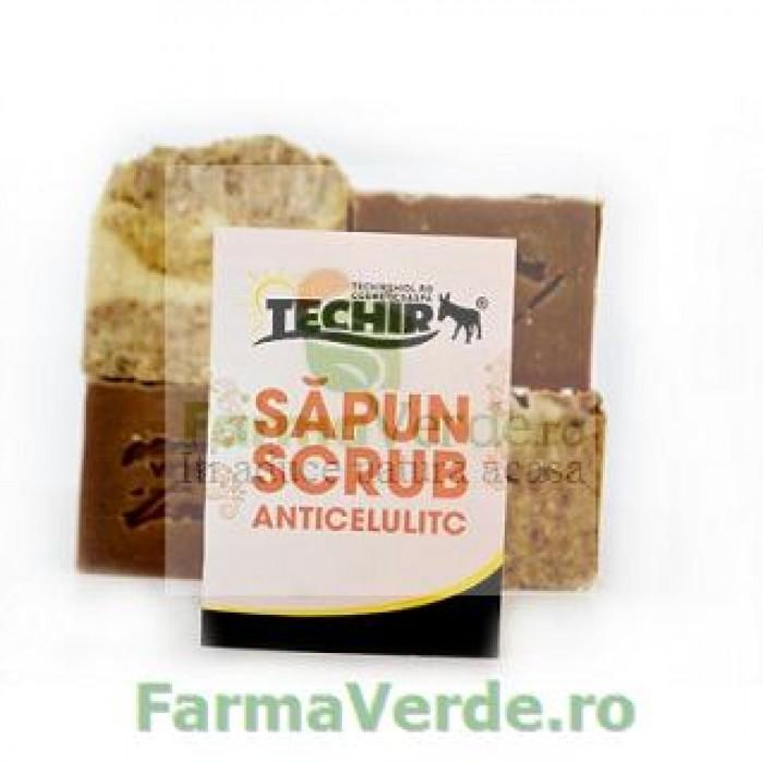 Sapun Scrub Anticelulitic Techir cu Namol Sapropelic 120 gr Techirghiol Cosmetic & Spa
