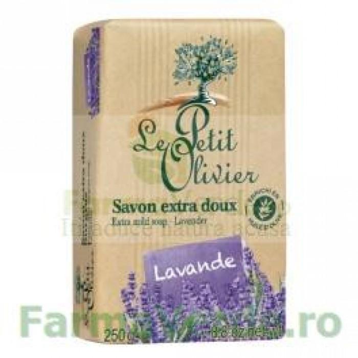 Sapun vegetal cu extract de lavanda 250 GR FPO10 Le Petit Olivier Cosmetica Verde