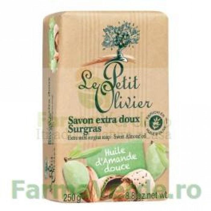 Sapun vegetal cu ulei de migdale 250 gr FPO14 Le Petit Olivier Cosmetica Verde
