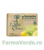 Sapun vegetal cu extracte de verbina si lamaie 2 bucati FPO5 Le Petit Olivier Cosmetica Verde