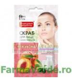 Scrub regenerant cu pulbere de piersica 15 ml FF6 Fitocosmetic Cosmetica Verde