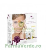Set cadou Argan / Aloe Vera cu crema regeneranta de zi si lapte demachiant Cosmetic Plant