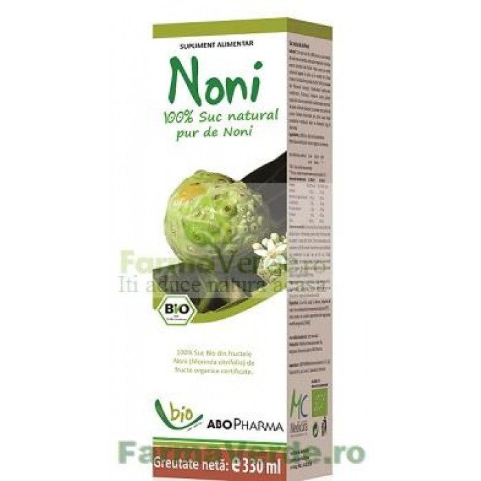 Suc NONI (Dud Indian) Suc natural pur Antioxidant Puternic! 330 ml Abo Pharma