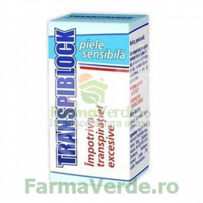 Transpiblock Deodorant pentru piele sensibila 25 ml Zdrovit
