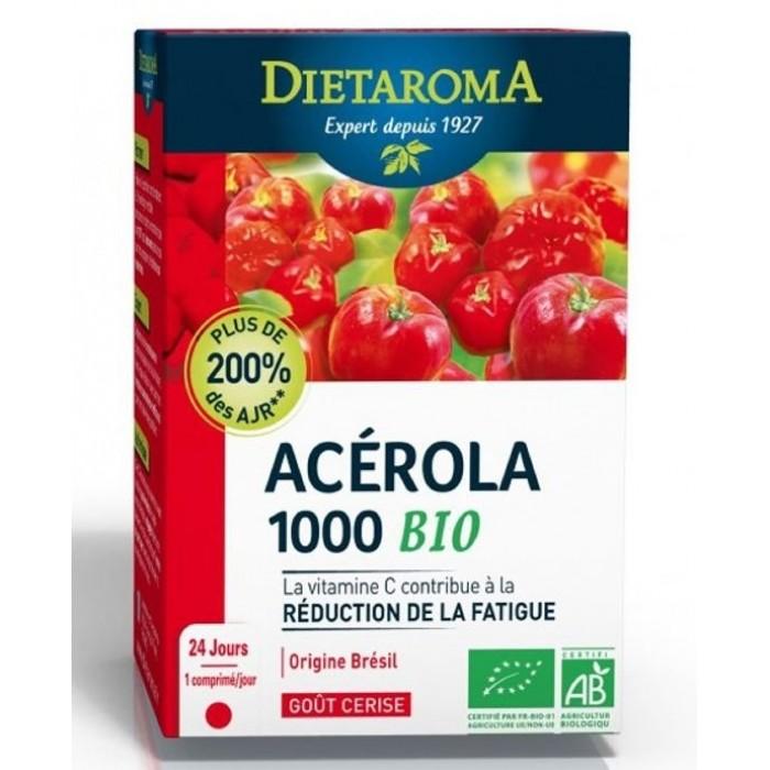 Acerola 1000 BIO Vitamina C 24+24 gratuit Comprimate Dietaroma