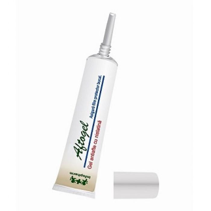 Aftogel calm  gel contra aftelor bucale cu nistatina si anestezic 15 ml Infofarm
