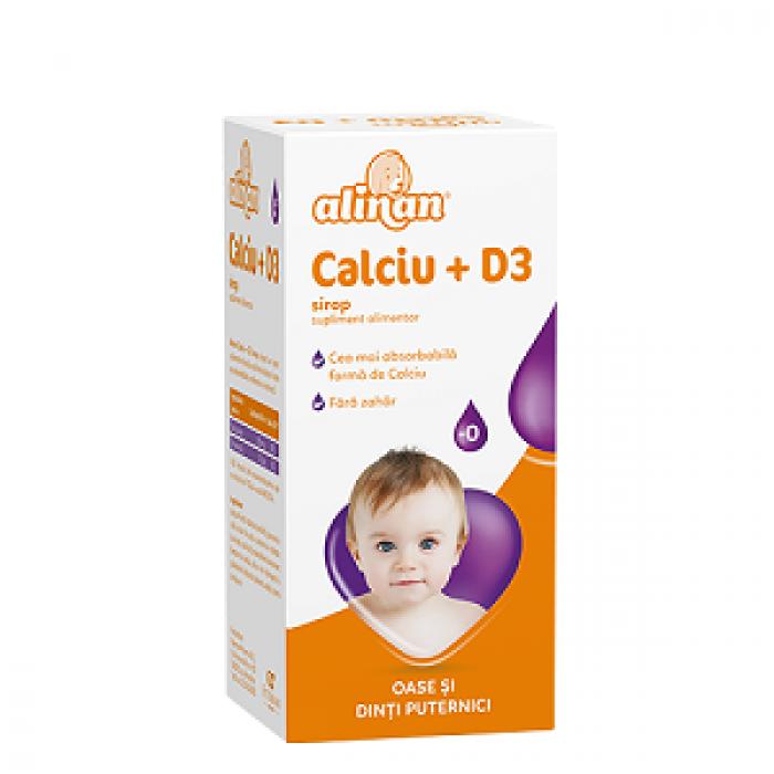 Alinan Calciu +D3 Baby Sirop 150 ml Fiterman Pharma
